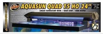 Zoo Med Laboratories AZMAF424 Aquasun T5ho Quad Hood for Aquarium Light, 24-Inch
