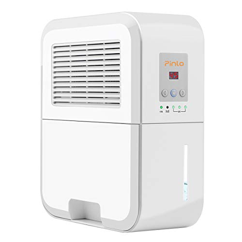 pinlo Dehumidifier Electric Mini Dehumidifiers for Home Basements Bathroom Bedroom Closet Wardrobe RV 2200 Cubic Feet (269 sq.ft) Large 2L Tank Smart Control Dehumidifier