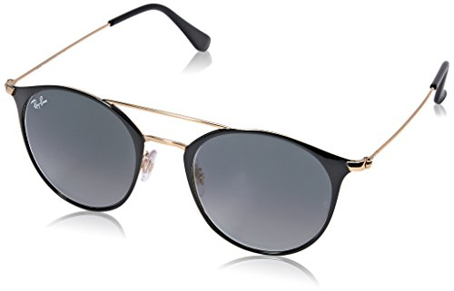 Ray-Ban Steel Unisex Round Sunglasses, Gold Top Black, 49 - For Top Women Sunglasses 2016