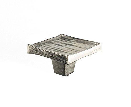 Forged 3 Square Knob Finish: Satin Nickel, Size: 2'' H x 2'' W x 1'' D