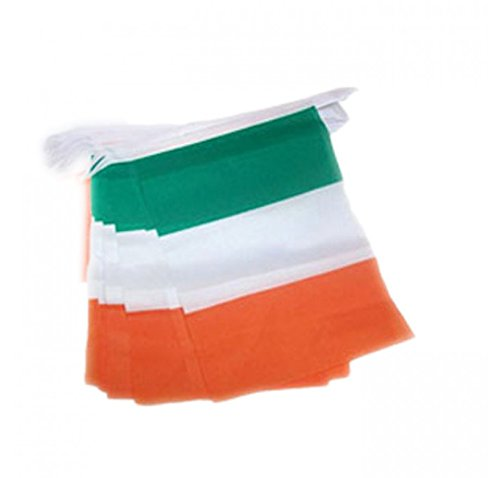 St. Patrick's Day Ireland Tri Colour Flag Style Bunting (5 (Irish Flag Bunting)