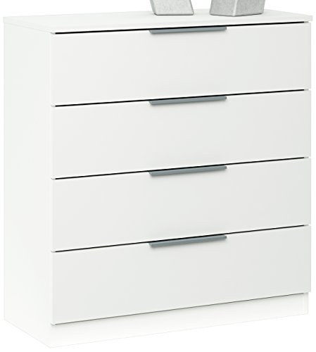 Demeyere 250533 chest of drawers with 4 drawers particle board white 80 x 35.3 x 85 cm by Demeyere