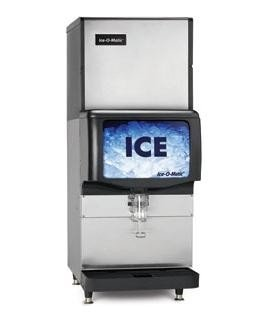 """Ice-O-Matic ICE0320FW-IOD150 349 lb 22"""" Water-Cooled Full Cube Ice Machine w/ Ice Dispenser"""