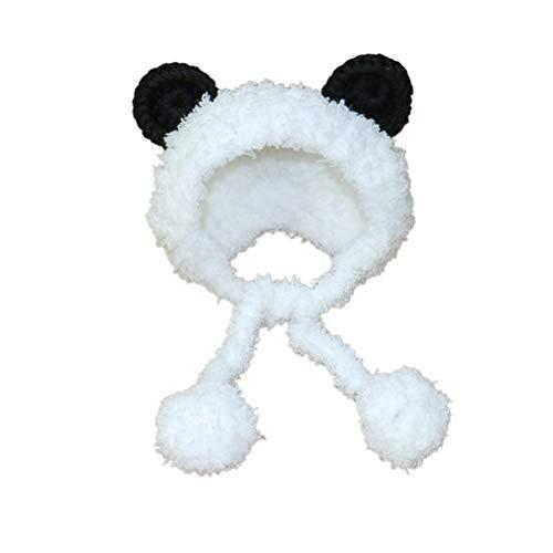 POPETPOP Panda Bear Dog Costume Neck Ear Warmer Headband Protector for Cat and Dog Size -