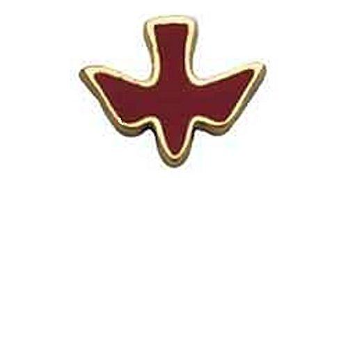 Enameled Bird Pin (Holy Spirit Dove Lapel Pins Gold & Red, Set of 3 Pins)