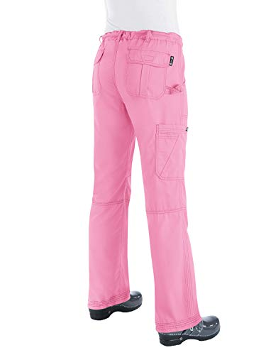 KOI Women's Lindsey Ultra Comfortable Cargo Style Scrub Pants (Petite Sizes), Pink Small by KOI (Image #2)