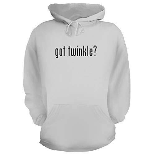got Twinkle? - Graphic Hoodie Sweatshirt, White, Large