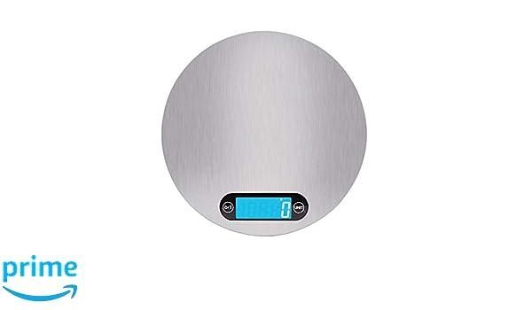craftsman168 Balanza de Cocina Digital de Acero Inoxidable, Balanza de alimentación electrónica Modular para hogar y Horno, Pesaje de Alimentos 5000g: ...