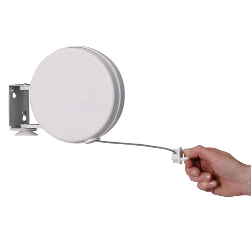 Household Essentials R-400 Single Line Retractable Clothesline | 40 Feet for Hanging Laundry