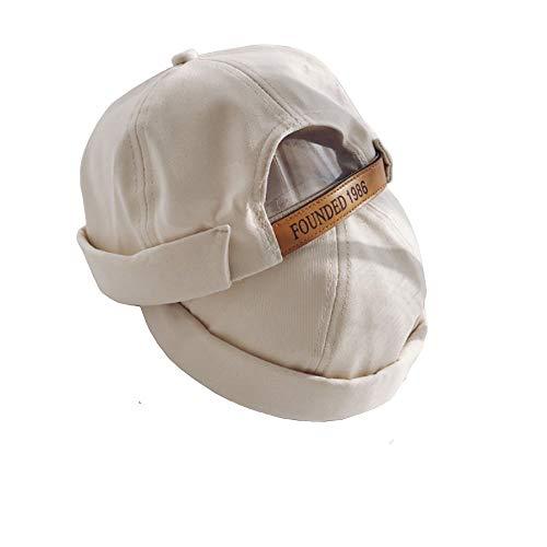 Clape No Brim Docker Leon Beanie Cap Rolled Cuff Retro Worker Sailor Cap aa2f9da76536