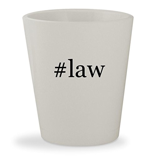 #law - White Hashtag Ceramic 1.5oz Shot Glass