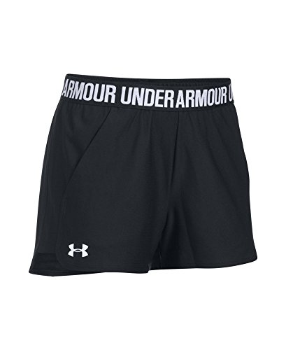 Under Armour Women's Play Up Shorts 2.0, Black (002)/White, XX-Small by Under Armour (Image #3)