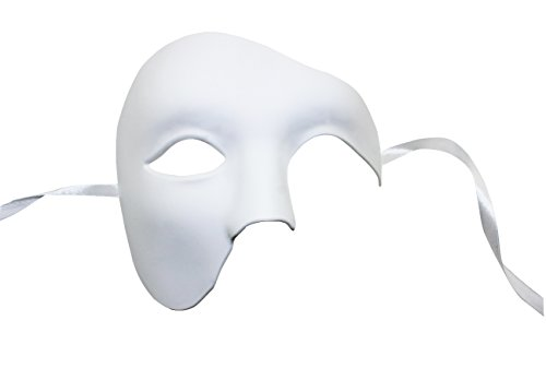 KEFAN Mens Mask Halloween Mask Masquerade Phantom of The Opera Half Face Mask