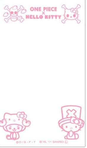 Sanrio Hello Kitty x One Piece Screen Protecting Sticker for Smartphone (Hello Kitty x Chopper) by Hasepuro