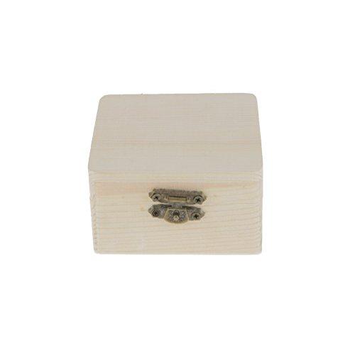 Square Treasure Box - Sky Fish Wood Case Jewellery Box Wooden Treasure Chest Wooden Jewellery Box Square Jewellery Case for Jewellery