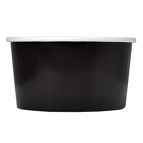 Black Paper Ice Cream Cups - 6 oz Dessert Bowls - Comes In Many Colors & Sizes! Frozen Dessert Supplies - Fast Shipping! 50 Count]()