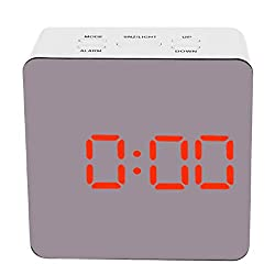 Succper Alarm Clock Radio with Wireless Bluetooth Speaker FM Radio Night Light LED Digital Display Sleep Timer with Snooze Function for Heavy Sleepers Home Bedroom Kitchen Kids