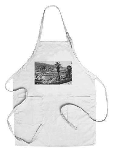 Avalon, CA - Santa Catalina Island Harbor (Cotton/Polyester Chef's Apron)