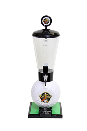 Beer Tubes Golf Ball Base Beverage Tower Dispenser with Regular Tap, 128 oz. Super Tube, White, GOL-ST-R by Beer Tubes