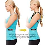 Adjustable Back Support - Premium Aid Back Brace Helps with Bad Shoulder,Clavicle Alignment and Cervical Neck Pain