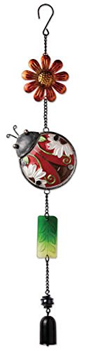 Sunset Vista Designs Metal and Colored Glass Ladybug Garland