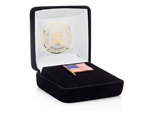 - President Donald J. Trump American Flag Lapel Pin - Limited Edition 24K Gold Lapel Pin