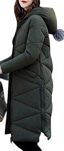 Giacche Moda Colore Gr Puro Donna Manica Cappotti Giacca Invernali Lunga Eleganti Trapuntata Imbottitura Cappotto Incappucciato Calda Autunno Cerniera Invernali Inverno con Lunga Grazioso Piumino qvqng8R0