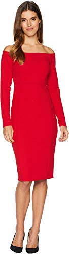 Tank Back Zip (bebe Womens Back Zip Boat Neck Midi Dress Red 10)