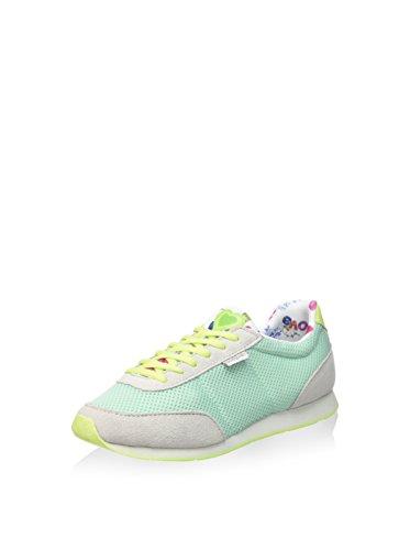 Desigual Damen Primavera Sneaker, Türkisgrün, 41 EU
