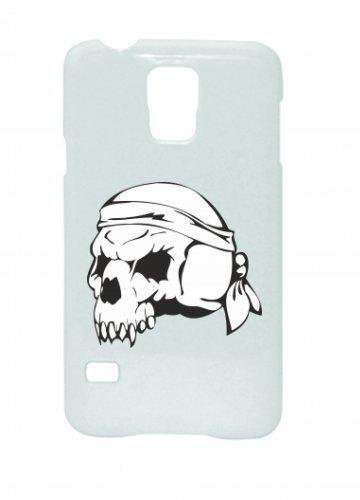 """Smartphone Case Apple IPhone 6+/ 6S Plus """"Totenschädel mit Stirnband Skelett Rocker Motorradclub Gothic Biker Skull Emo Old School"""" Spass- Kult- Motiv Geschenkidee Ostern Weihnachten"""