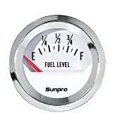 Sunpro CP8209 StyleLine Electrical Fuel Level Gauge - White Dial
