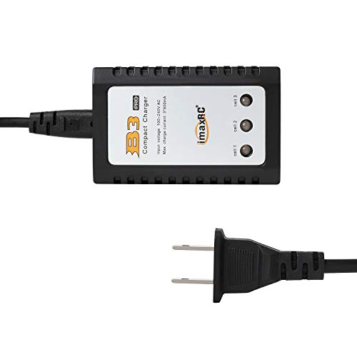 10W RC Battery Chargers 2s 3s 7.2v 11.1v Li-Po Power Adapter Balance Charger Portable Automatic Power Off with US Adapter (100-240v)