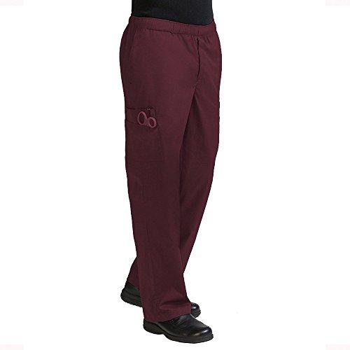 Mens Cargo Scrub Pant (Med Couture Men's 'MC2' 7 Pocket Cargo Pant, Wine, Large)
