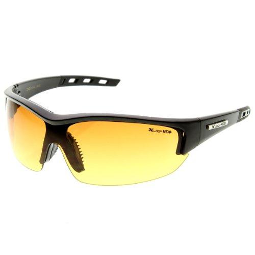 X-Loop - HD Brand Eyewear Half Frame Anti-Glare Lens Sports Frame Sunglasses (Shiny - Brand X Eyewear