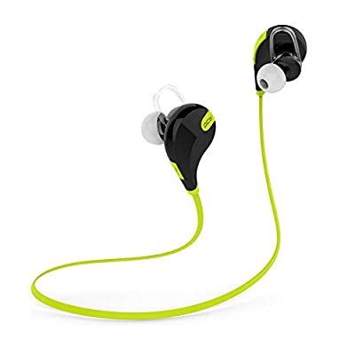 Amerzam Bluetooth Headphone QY7 In-Ear Stereo Bluetooth V4.1 Wireless Sweatproof Running Headset with Microphone for iPhone Android phone