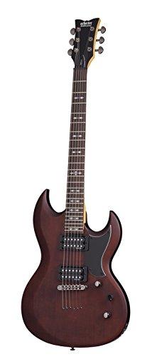 Schecter OMEN S-II Solid-Body Electric Guitar, WSN