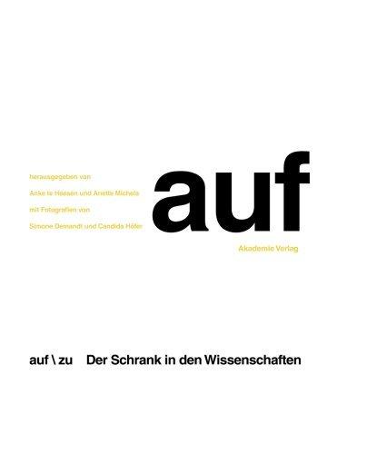 Photo Auf / Zu. Der Schrank in den Wissenschaften: Der Schrank in den Wissenschaften (German Edition) by Anke Te Heesen (2007-10-22)