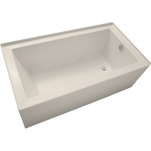 Mirabelle MIRSKS6032R Sitka 60'' X 32'' Acrylic Soaking Bathtub for Three Wall Alc, White by Mirabelle