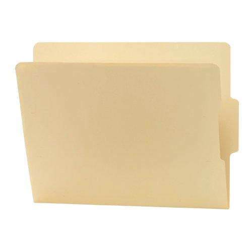 Smead Shelf-Master Folders, 2/5 Cut Bottom 2-Ply Tab, Letter, Manila, 100 Per Box - Ply Heavyweight Tab 2
