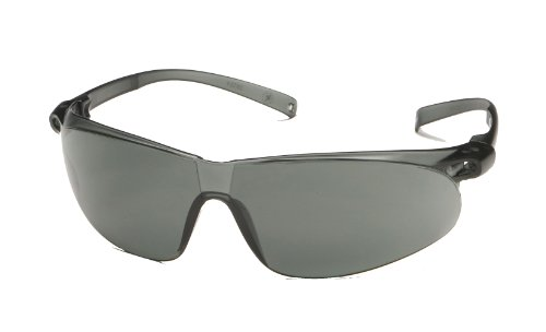 (3M 11386 Virtua Sport Anti-Fog Safety Glasses, Gray Frame, Gray Lens)