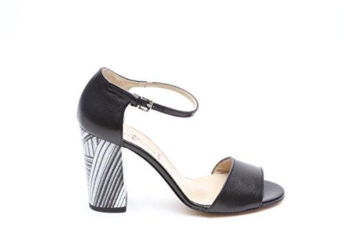 Scarpe italiane sandali monofascia nero