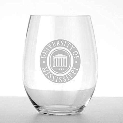 Ole Miss Stemless Wine Glasses - Set of 2 by ()