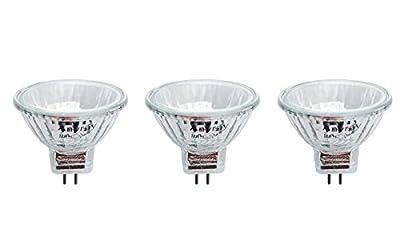 Anyray A2003Y (3-bulbs) Clear MR11 6-Volt 5-Watt Fiber Optic Christmas Trees Light Bulb 5W 6V