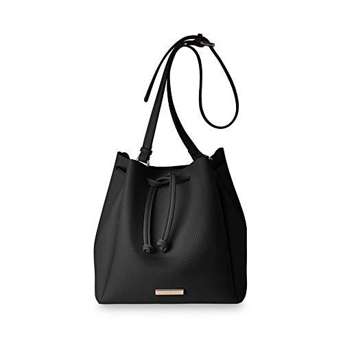 (Katie Loxton Black Chloe Large Women's Faux Leather Shoulder Handbag)