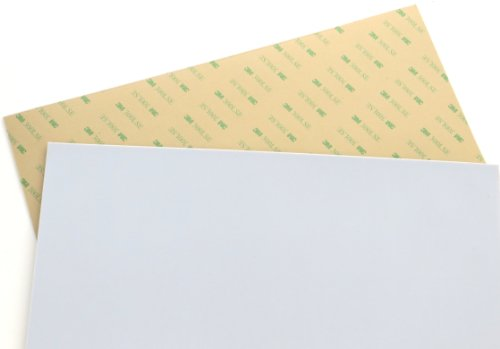 Teflon (PTFE) sheet Size 12'' x 12'', 0.03'' (1/32'') thick, with 3M 300LSE industrial-strength self-adhesive backing [TEFLON12x12-3M] by Soles2dance