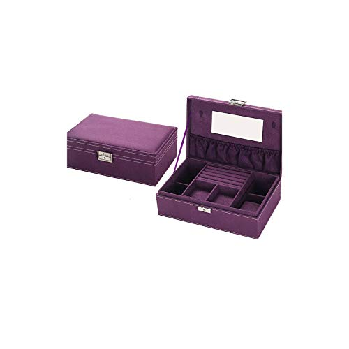 Jewelry Accessories Box Bracelets/Necklace/Bangle/Rings/Earrings Storage Box,Purple
