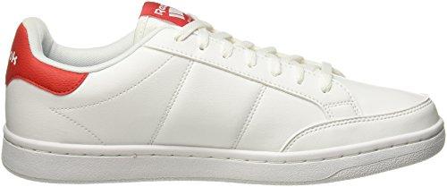 Reebok Royal Smash, Sneakers Basses Homme Blanc (White/Primal Red)