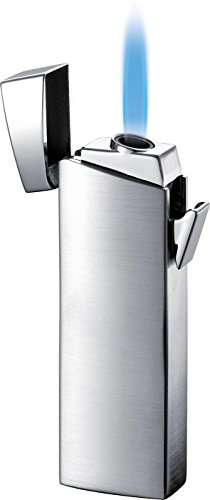 - Visol Camino Satin Chrome Torch Flame Windresistant Lighter