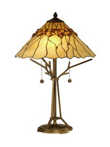 (Dale Tiffany TT10598 Branch Base Tiffany Table Lamp, Antique 16