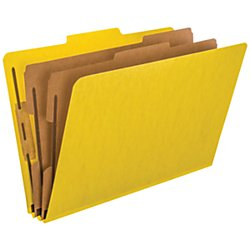 6 Section 10 Box (Pendaflex 2257Y Six-Section Colored Classification Folders, Legal, 2/5 Tab, Yellow (Box of 10))